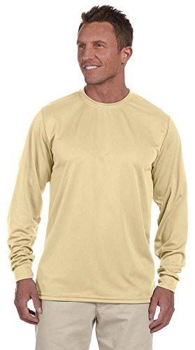 - Augusta Sportswear 100% Polyester Moisture-Wicking Long-Sleeve T-Shirt (788) Vegas Gold, XL