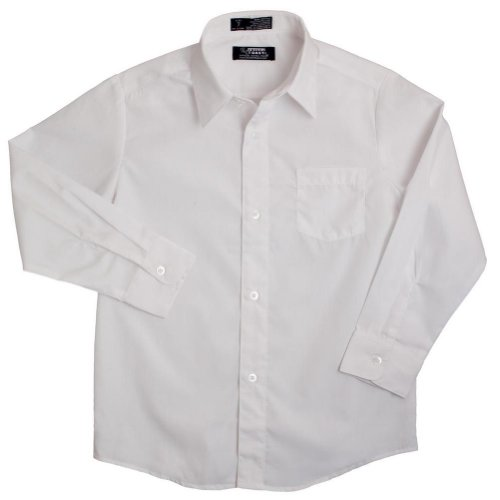 French Toast Boys White Long Sleeves Dress Shirt - E9004