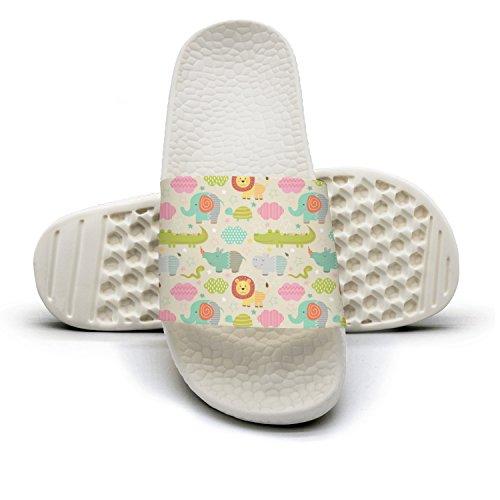 White Slipper Bathroom Shoes Animal Cute Baby rtw Ladies Indoor Non Slip Womens qiopw for Sandal Shower Elephant 19 qaP5wR