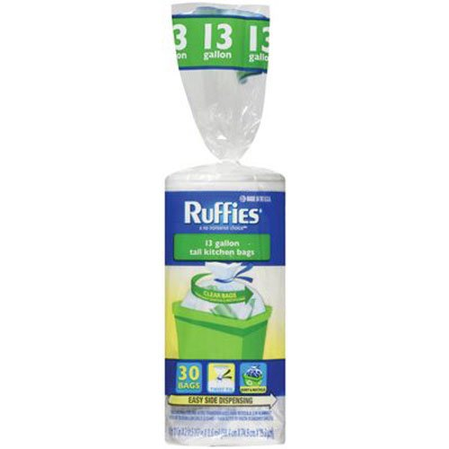 Ruffies 981587  Recycling Bag,30 Count,13 gallon