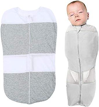 Yete Saco de Dormir de algodón, con Cremallera, Saco de Dormir antirrotación para recién Nacido Edad 0-6 Meses, 2.5 años.: Amazon.es: Ropa y accesorios