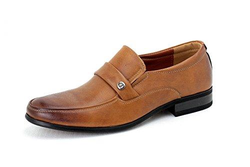 Hombre Zapatos De Vestir Sin Cordones Vestido De Trabajo Estilo Informal oficina diseño Mocasines Marrón