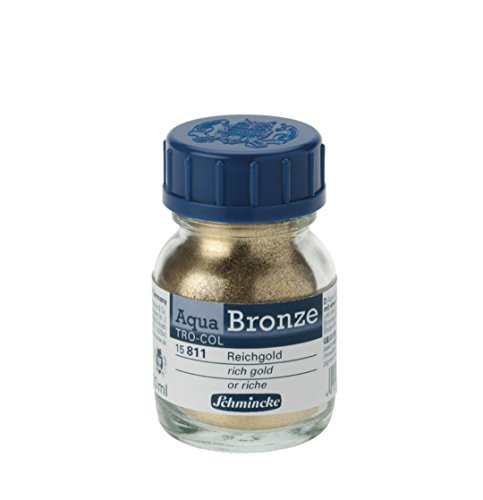Schmincke Aqua Bronze Powder, 20ml Jar, Rich Gold, 1 Each - Pigment Schmincke