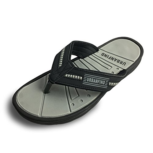 URBANFIND Men's Classic Flip Flops Summer Light Weight Shower Sandals Grey, 7 D(M) US/EU 41