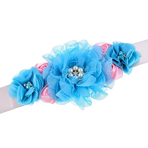 RoyaLily Handmade Flower Sash Belt for Maternity Pregnancy