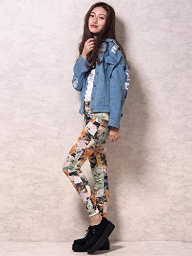 Manica Moda Giubotto Ragazza Hellblau Jeans Con Multi Eleganti Fashion Outerwear tasca Casuali Giacche Donna Stampate Digitale Autunno Lunga Sciolto Primaverile Strappato Pulsante Giubbino Giaccone qfIWwz86