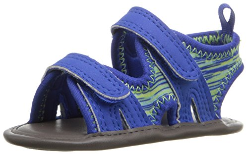Natural Steps Lil Grayson Crib Shoe Sandal (Infant), Royal Blue, 3 M US Infant