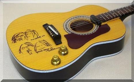 JOHN LENNON Miniatura Guitarra ACOUSTIC PEACE BEATLES ...