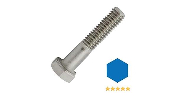 ISO 4014 de acero inoxidable A2 V2A Tornillos hexagonales con v/ástago DIN 931 10 unidades