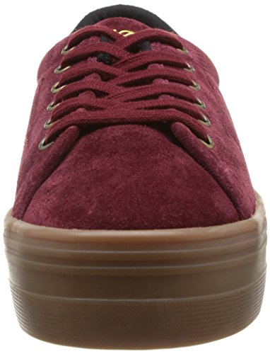 Sneaker mode No Name Split Baskets Plato Rouge femme Burgundy EaZqSv