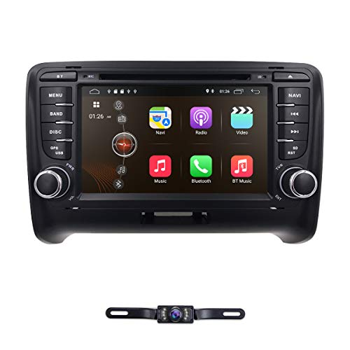 hizpo 7 Inch Android 8.1 Double Din Car Stereo Radio DVD Player for Audi TT MK2 2006-2014 Support Steering Wheel Control GPS Navigation Mirrorlink Bluetooth + Optional Digital TV DVR OBD2 ()