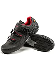 Santic Mens Lockless Cycling Shoes Lock-Free Road Bike Shoes Cycling Sneakers Cleats not Compatible Indoor and Outdoor Bicycle Shoes