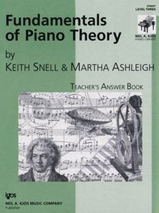 KJOS Fundamentals of Piano Theory Level 3 Answer Book