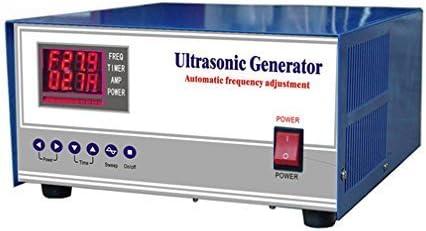 Generador ultrasónico digital CGOLDENWALL 2000 W 20 khz / 25 khz / 28 khz / 30 khz / 33 khz / 40 khz generador de limpieza ultrasónica frecuencia y potencia ajustable doble show certificación CE y FCC