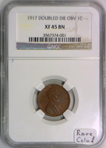 1917 No Mintmark Lincoln Wheat Cent XF-45 NGC
