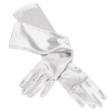 Jannes 52100 Elegante Gala Satin-Handschuhe Lang 48cm Show Glamour 50er Jahre 50s Rock-n-Roll Einheitsgr/ö/ße Rot