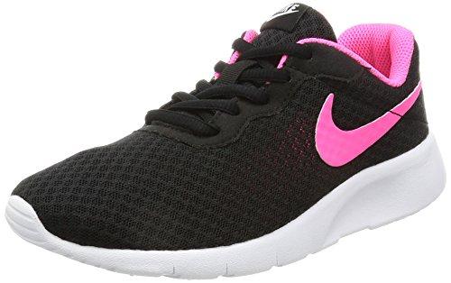 NIKE Kids Tanjun (GS) Black/Hyper Pink White Running Shoe 4 Kids US by Nike (Image #1)