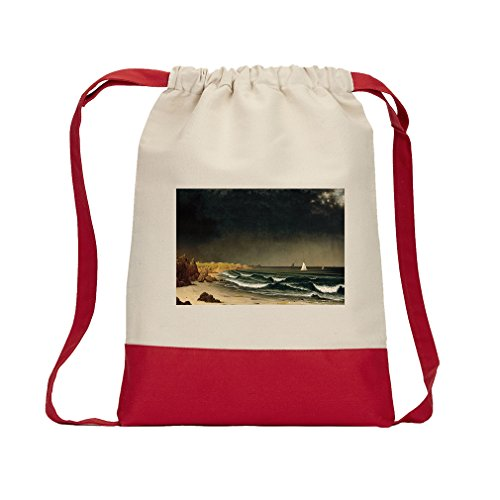 Approaching Storm Newport (Mj Heade) Canvas Backpack Color Drawstring - Red ()