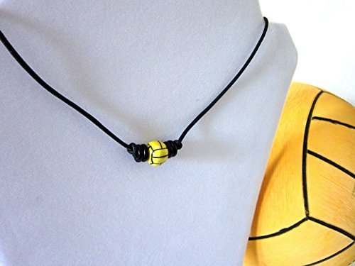 Water Polo Accessories - Water Polo / Waterpolo / H2O Polo Water Polo Ball Leather Necklace - Jewelry - Complete with Organza Gift Bag!