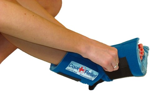Soft Gel Foot Ice Wrap by Cool Relief (1 Set of Inserts)