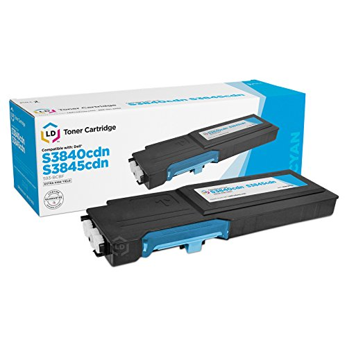 LD Compatible Dell 593-BCBF / G7P4G / H2X3M Extra High-Yield Cyan Toner Cartridge for use in Color Laser MFP S3845cdn & S3840cdn (9,000 Page Yield) Extra High Yield Color Laser