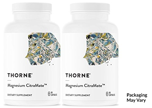 THORNE RESEARCH - Magnesium CitraMate (135mg -90 caps 1ea) 2 pack!