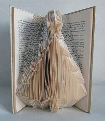 Buch Geschenk Weihnachten.Gefaltetes Buch Weihnachtsbaum Christbaum Mit Stern Als Geschenk