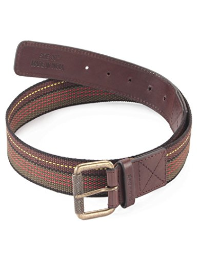 Style n Craft 390306-34 Belt in Top Grain Leather/Webbing Combination, Brown