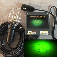 21,000 Lumens, Green Underwater Fish Light Kit w/50' Lamp Cord, Dock Light