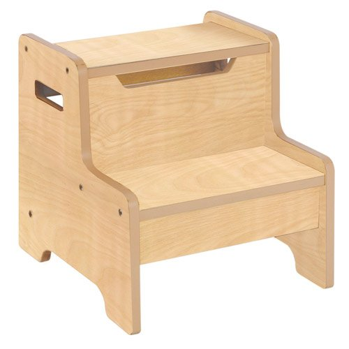 Guidecraft Expressions Step Stool in Natural 26819