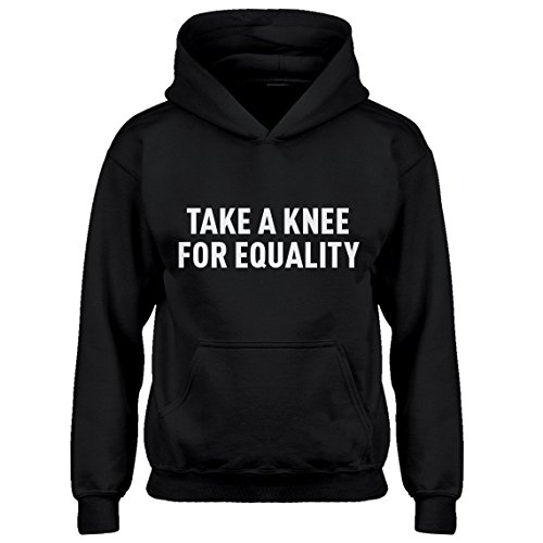 Youth Iron Patriot Hoodie (Indica Plateau Hoodie Take a Knee for Equality X-Small Black Kids Hoodie)