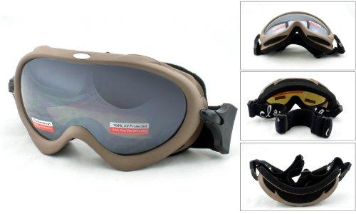 Cloud 9 Women's Snow Goggles in Matte Brown/Mirrored - Sunglasses 9 Cloud