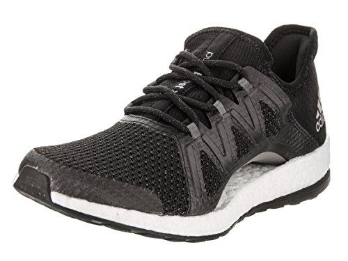 adidas Women's Pureboost Xpose, Black/TECH Silver, 9.5 Medium US (Adidas Spring Womens)
