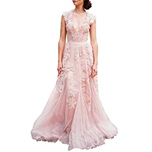 ASA Bridal Women's Vintage Cap Sleeve Lace Wedding Dress A Line Evening Gown