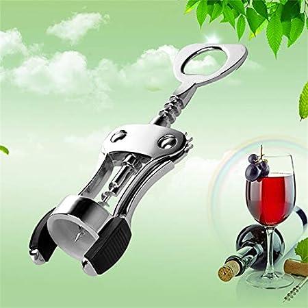 Sacacorchos Abridor De Vino Tinto De Aleación De Zinc Portátil Tipo De Ala Sacacorchos De Vino Abridores De Mango De Botella Removedor De Corcho De Vino