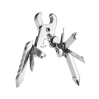 Multitools Folding Pliers, 15-in-1 Multi-Purpose Pocket Knife Pliers - Sim Card Tray Eject Pin Tool, Stainless Steel Pocket Multi Tool Set for Survival, Camping, Fishing, Hunting, Hiking