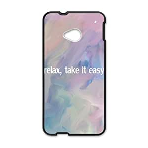 relax,take it easy personalized high quality cell phone case for HTC M7