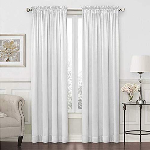 "Hilton Rod-Pocket Curtain Panel 54"" x 108"" - Cool White"