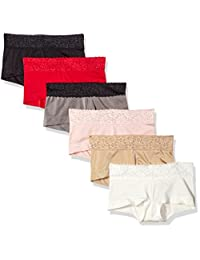 Maidenform Sweet Nothing Womens Standard 6 Pack Microfiber Boyshort with Lace