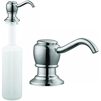 Kitchen Sink Liquid Soap Dispenser Lotion Pump Arc Nozzle, Brushed ...