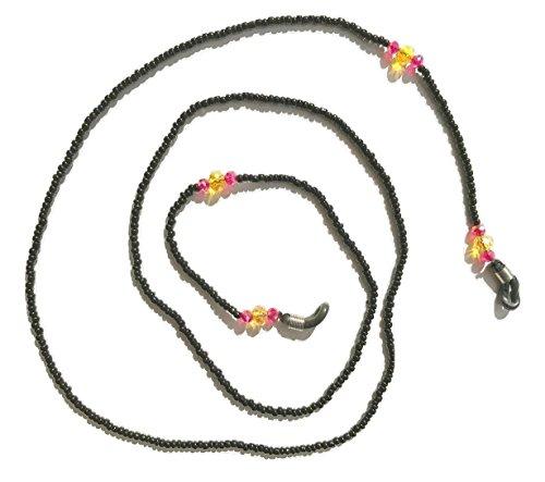 Black Hand Beaded Eyeglass Chain Holder