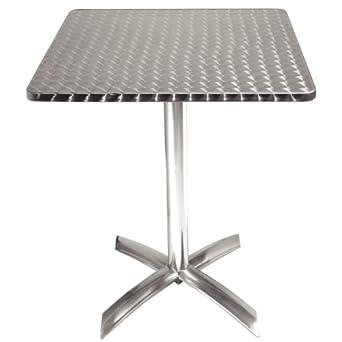 Bolero Square Flip Top Table Stainless Steel 720X600X600mm Restaurant Bar  Cafe