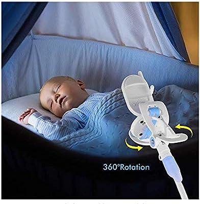 c/ámara flexible de aleaci/ón de aluminio Soporte de c/ámara para guarder/ía Soporte universal compatible con el tel/éfono y la mayor/ía de los monitores para beb/és Soporte universal para monitor de beb/é