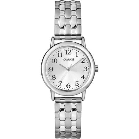 (Timex Carriage By Timex C3C744 Womens Silver Tone Expansion Band Watch - C3C744)