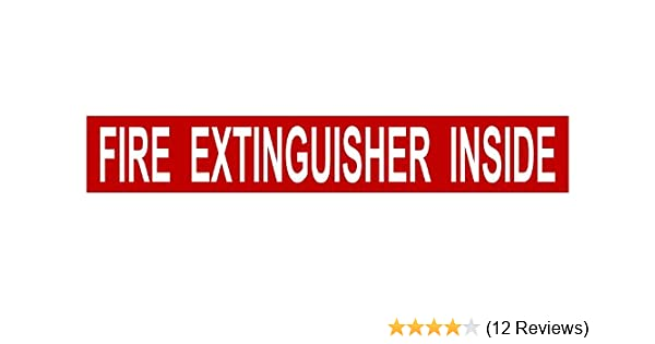 "1-1.25/""x 7.5/"" Fire Extinguisher Inside Decal Sticker Semi Truck Red White 1904"