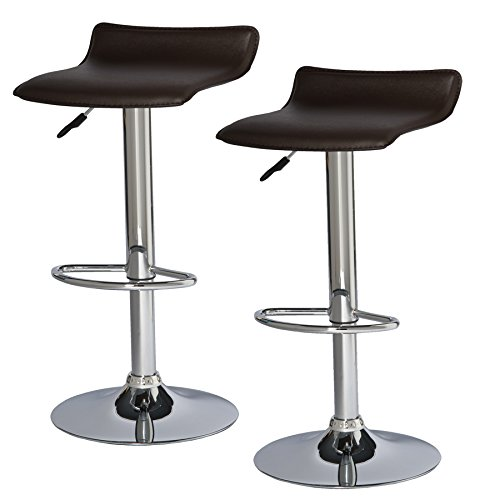 Leick 10042DB Favorite Finds Bar Stool Set of 2, Brown