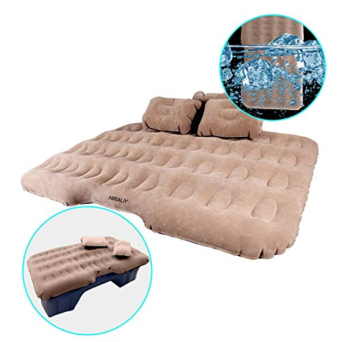 Inflatable Car Air Mattress Camping Travel Air Bed Back Seat Extended Mattress Air Couch with Car Air Pump ()