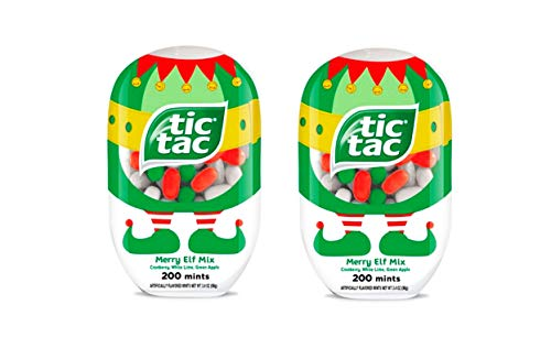 Tic Tac Christmas Snowman Merry Elf Mix 2 Pack (200 Mints Each Pack)
