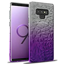 Samsung Galaxy Note 9 Gradient TPU Case,Aulzaju Galaxy Note 9 Luxury Beauty Bling Sparkle Colorful Shockproof Case Cover for Samsung Note 9 for Girls Women-Purple