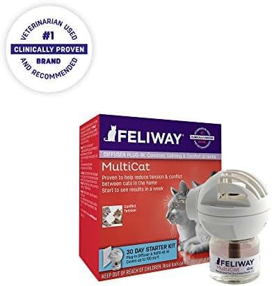Feliway MultiCat Diffuser Starter Kit | Constant Harmony & Calming Between Cats at Home